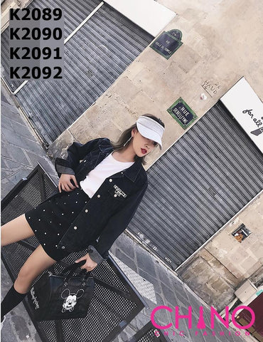 K2089 Charcoal denim jacket
