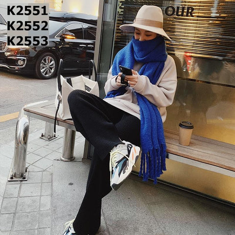 K2553 Slit knit pants
