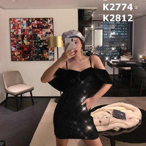 K2812 Black party dress