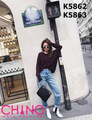 K5862 V neck sweater