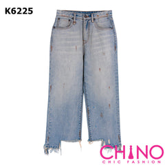 K6225 Blue vintage painted jeans
