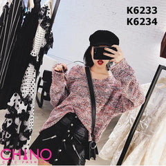 K6233 Red tone twist sweater