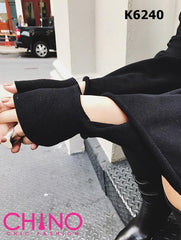 K6240 Oversized cut out cuff sweatshirt