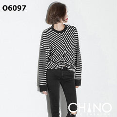 O6097 Stripe sweatshirt
