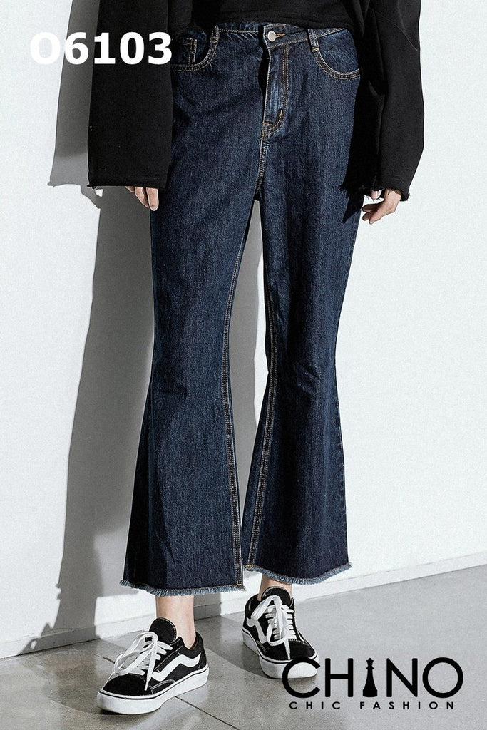O6103 Blue boot cut jeans