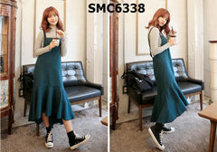 SMC6338 Suspender check dress