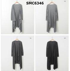 SMC6346 Asymmetrical cardigan