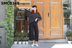 SMC6348 (one set) Stripe tee x pants