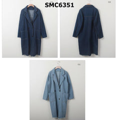 SMC6351 Denim double breasted jacket