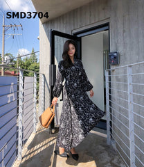 SMD3704 Printed flare dress