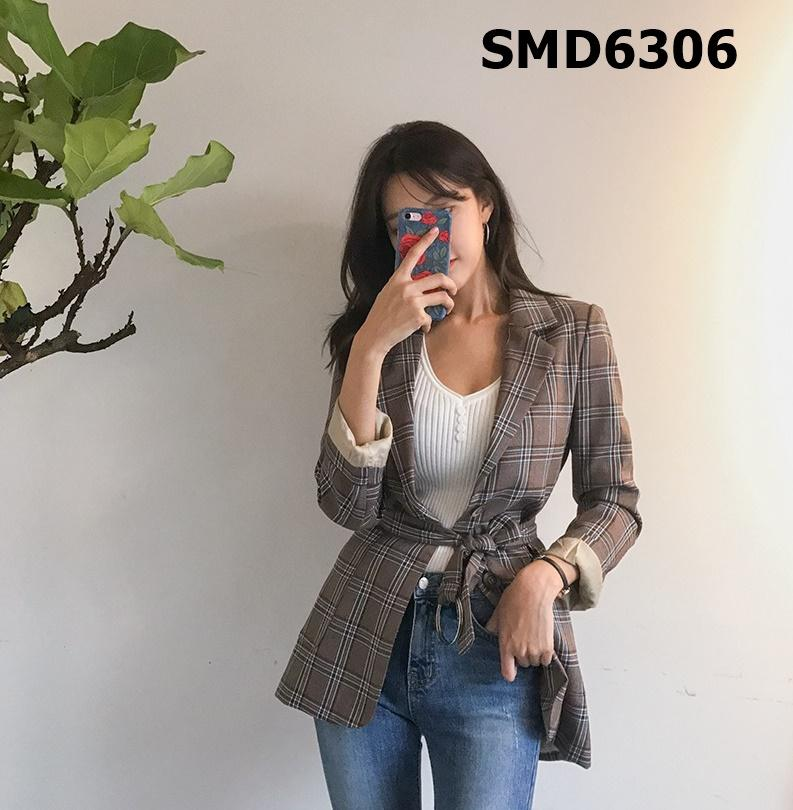 SMD6306 Brown check blazer