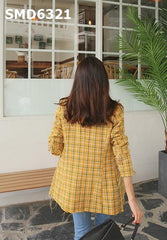 SMD6321 Yellow check blazer