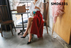 SMD6331 Two tone button skirt
