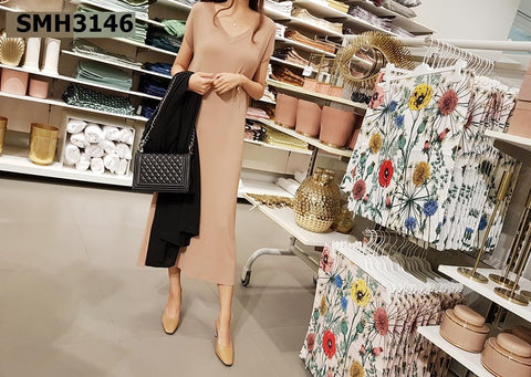 SMH3146 Long knit dress