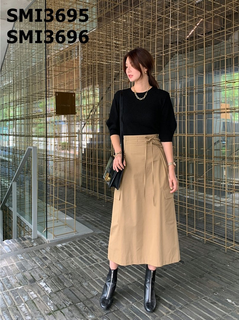 SMI3696 Ribbon long skirt