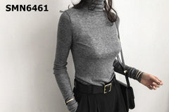 SMN6461 Turtle neck knit top