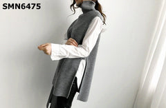 SMN6475 Turtle neck knit vest