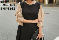 SMP6161 wrinkle sleeve top