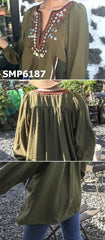 SMP6187 Beaded ethnic blouse