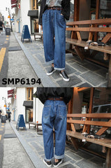 SMP6194 Blue bulky denim jacket