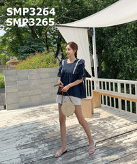 SMT3264 White strap blouse