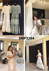 SMT3294 Long lace dress