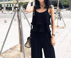 SY3174 (one set) layering vest x pants