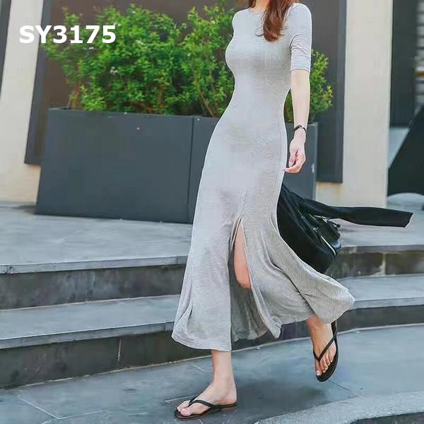 SY3175 Grey slit dress