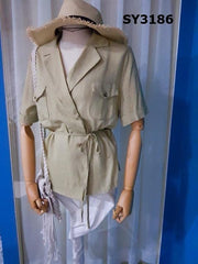 SY3186 Khaki green shirt