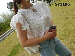 SY3196 Embroidery blouse
