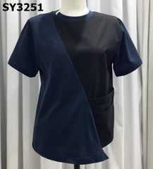 SY3251 Black x navy tee