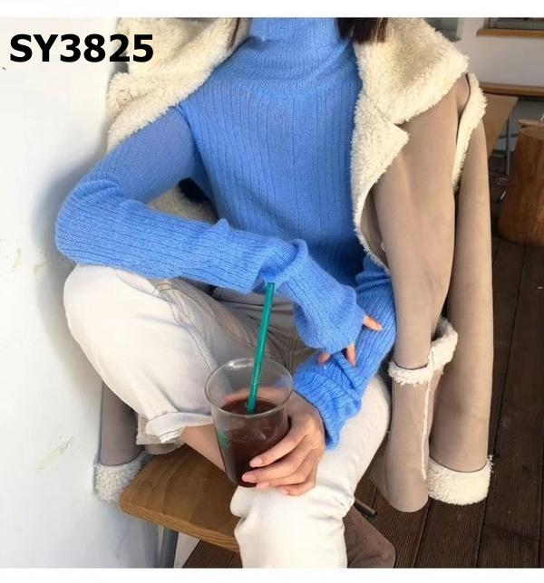 SY3825 Turtle neck knit tee