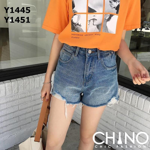 Y1451 Blue denim shorts