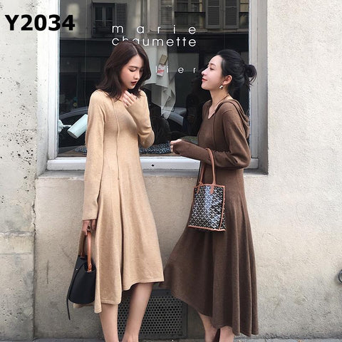 Y2034 Hoodie knit dress