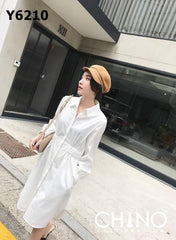 Y6210 White shirt dress