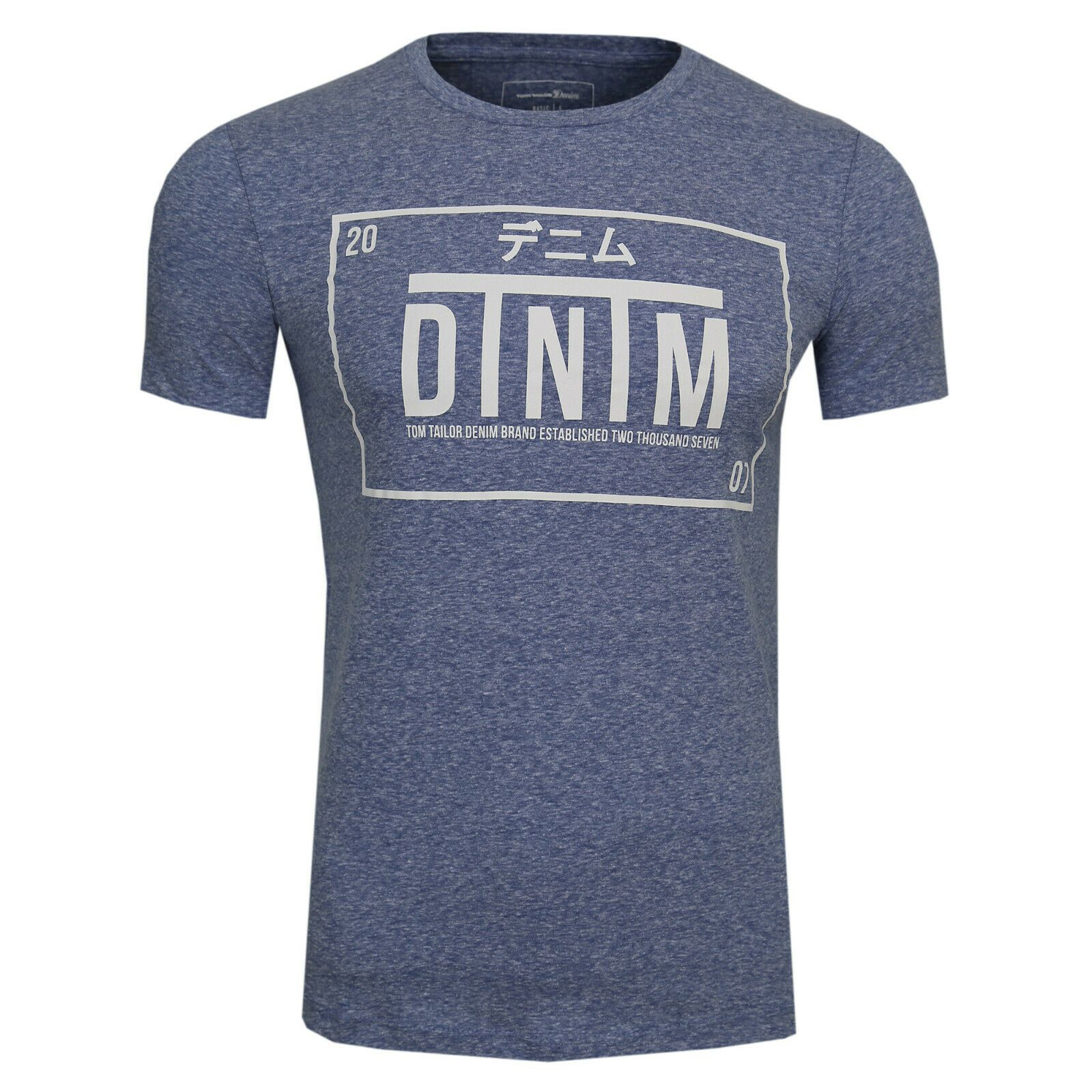 TOM TAILOR Denim T-Shirt mit Print Herren Mélange Print - Jack & Jones
