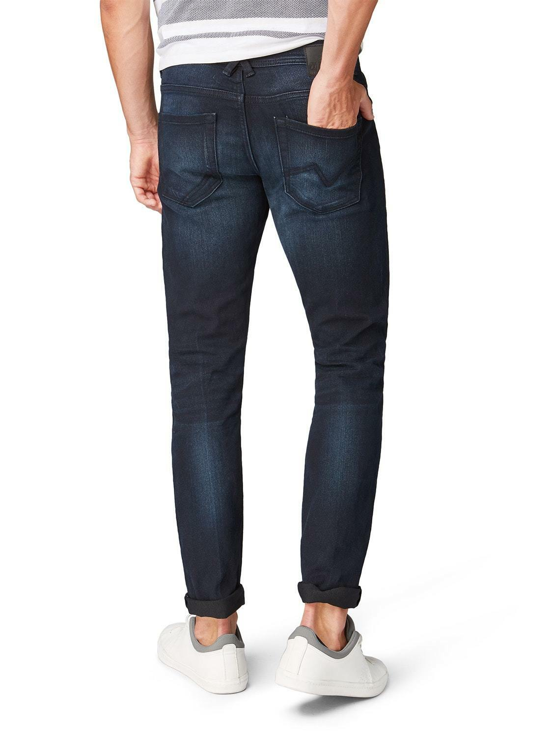TOM TAILOR Denim für Männer Jeanshosen Piers Super Slim Jeans Blue Black Denim