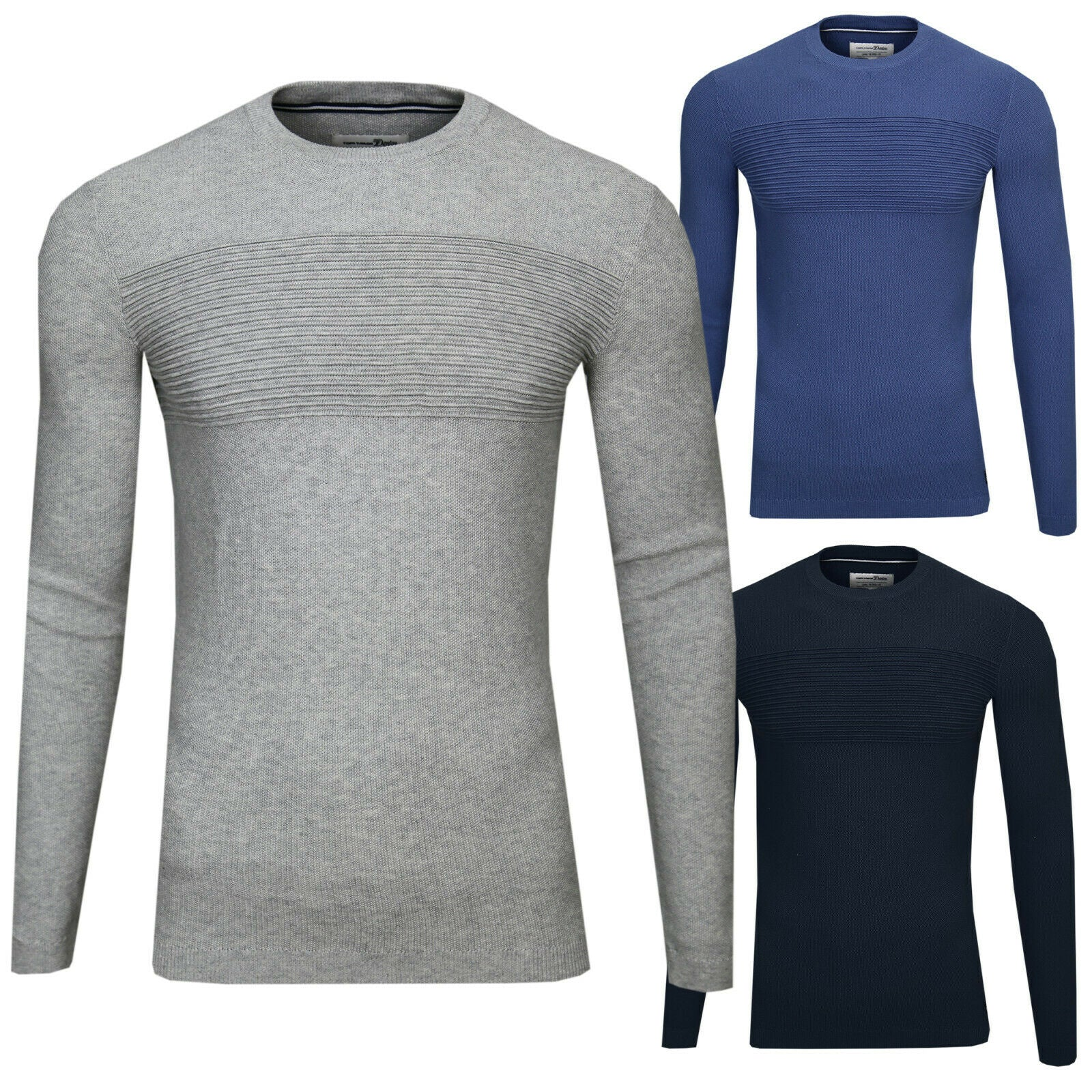 TOM TAILOR Structured Sweat Basic Strickpullover, Struktur Mix, Langarm, Rundhal