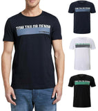 TOM TAILOR DENIM Herren Baumwoll T-Shirt Logoprint Regular Fit