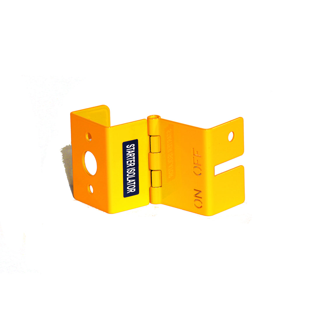 Battery Isolator Lock Box Yellow