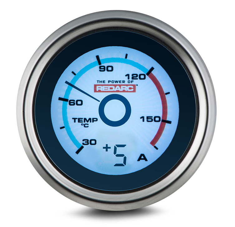 SINGLE TEMPERATURE 52MM GAUGE WITH OPTIONAL CURRENT DISPLAY