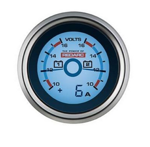 DUAL VOLTAGE 52MM GAUGE WITH OPTIONAL CURRENT DISPLAY