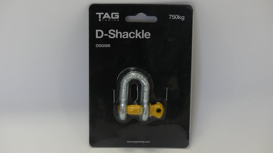 TAG D-Shackle - 8mm, 750kg, Galvanised