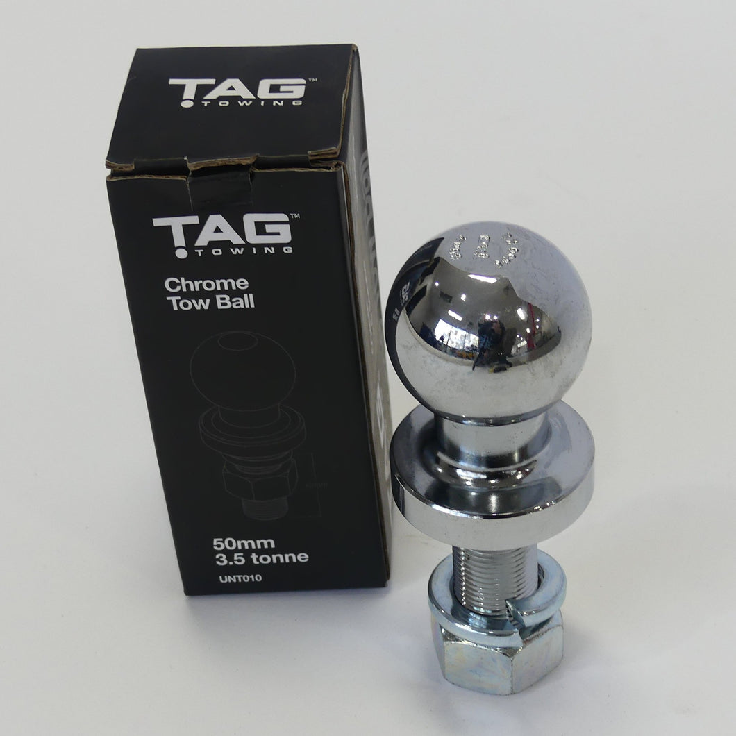 TAG Zinc Plated Tow Ball - 50mm, 3.5 tonne