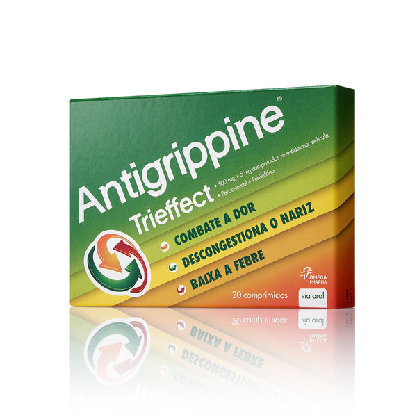 Antigrippine trieffect, 500/5 mg x 20 comp rev