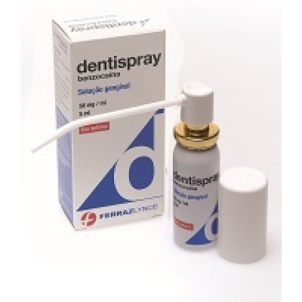 Dentispray, 50 mg/mL-5 mL x 1 sol dent