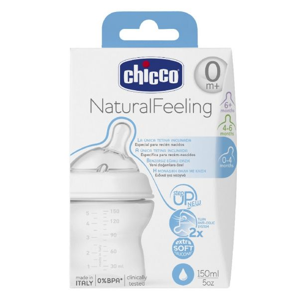 Chicco Biberão Stepup New1 +0m 150ml, Chicco - Farmácia Garcia