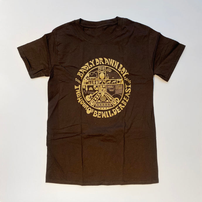 Bewilderbeast - Brown T-shirt (S only) | Badly Drawn Boy Official Store