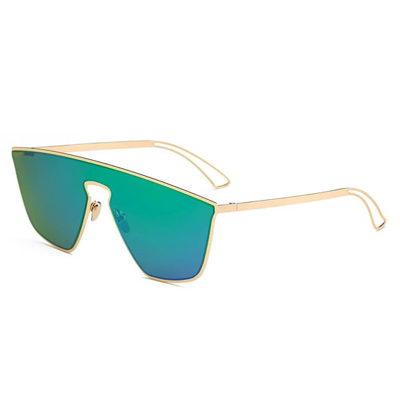 BEVERLY Square Futuristic Flat Lens Sunglasses