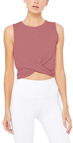 Twist Bottom Yoga Crop Tank